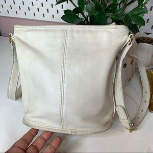 Coach Vintage white leather shoulder bag